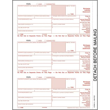 TOPS 1098 Tax Form, 1 Part, Federal - Copy A, White, 8 1/2in. x 11in., 50 Sheets/Pack