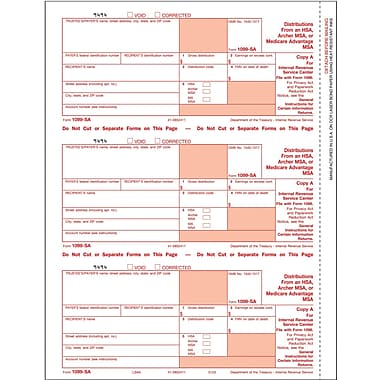 TOPS™ 1099SA Tax Form, 1 Part, Federal - Copy A, White, 8 1/2in. x 11in., 50 Sheets/Pack