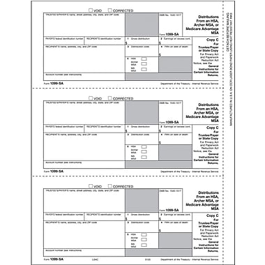 TOPS 1099SA Tax Form, 1 Part, Payer/State - Copy C, White, 8 1/2in. x 11in., 50 Sheets/Pack
