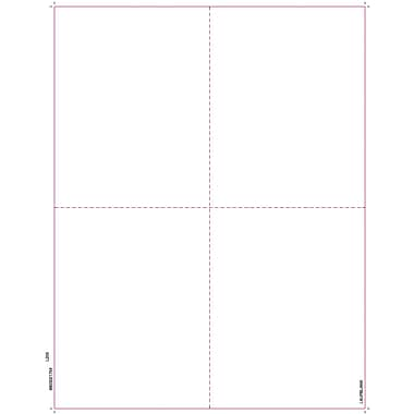 TOPS W-2 Blank Front and Back Tax Form, 1 Part, White, 8 1/2in. x 11in., 50 Sheets/Pack