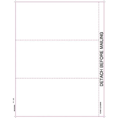 TOPS 1099 Blank Front and Back Tax Form, 1 Part, White, 8 1/2in. x 11in., 50 Sheets/Pack