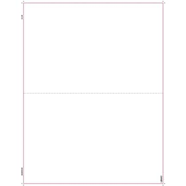 TOPS® W-2 Blank Cut Sheet, 1 Part, White, 8 1/2in. x 11in., 2000 Sheets/Carton