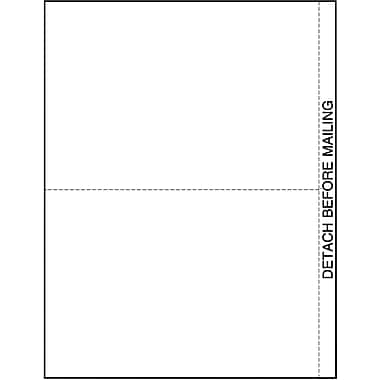 TOPS 1099 Blank Front and Back Tax Form, 1 Part, 2/page, White, 8 1/2in. x 11in., 50 Sheets/Pack