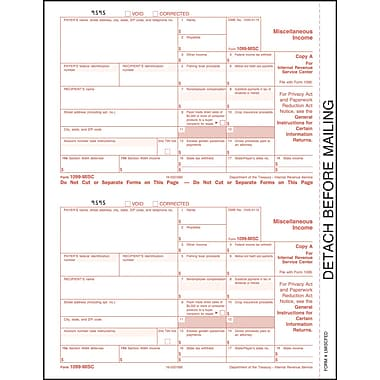 TOPS® 1099MISC Tax Form, 1 Part, Federal - Copy A, White, 8 1/2