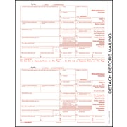 "TOPS® 1099MISC Tax Form, 1 Part, Federal - Copy A, White, 8 1/2"" x 11"", 50 Sheets/Pack"