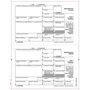 "TOPS® 1099MISC Tax Form, 1 Part, Payer/State - Copy C/1, White, 8 1/2"" x 11"", 25 Sheets/Pack"