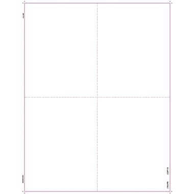 TOPS 1099R Tax Form, 1 Part, Blank Front Laser, White, 8 1/2in. x 11in., 2000 Sheets/Carton