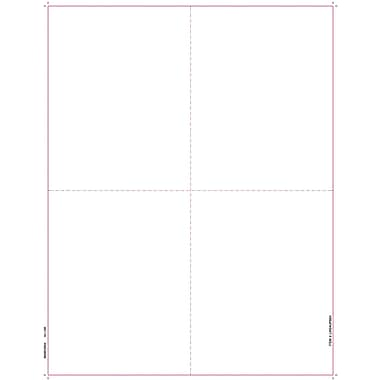 TOPS® W-2 Tax Form, 1 Part, Blank face, w/ backers, White, 8 1/2