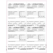 TOPS® W-2 Tax Form, 1 Part, Employer's copies cut sheet, 50 Sheets/Pack