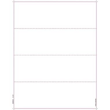 TOPS® W-2 Tax Form, 1 Part, 4 per page blank front w/ backers, White, 8 1/2 x 11, 2000 Sheets/Carton