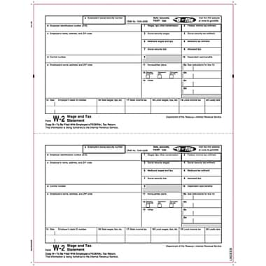 TOPS W-2 Tax Form, 1 Part, Copy B, White, 8 1/2in. x 11in., 50 Sheets/Pack