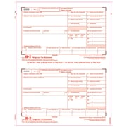 "TOPS® W-2 Tax Form, 1 Part, Copy A, White, 8 1/2"" x 11"", 50 Sheets/Pack"