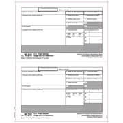"TOPS® W-2 Tax Form for American Virgin Islands, 1 Part, Copy B, White, 8 1/2"" x 11"", 50 Sheets/Pack"
