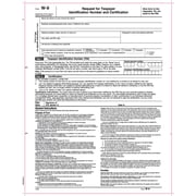 """TOPS® W-9 Tax Form, 1 Part, White, 8 1/2"""" x 11"""", 50 Sheets/Pack"""