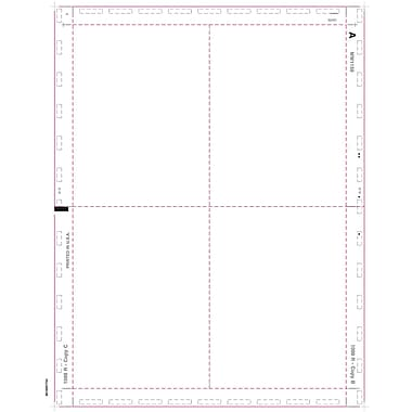 TOPS 1099R Tax Form, 1 Part, Cut Sheet Blank w/Backers, White, 8 1/2in. x 11in., 500 Sheets/Pack