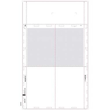 TOPS 1099R Tax Form, 1 Part, Cut Sheet Blank w/Backers, White, 8 1/2 x 14in., 500 Sheets/Pack