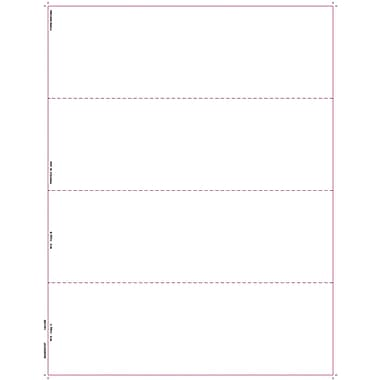 TOPS™ W-2 Tax Form, 1 Part, 4 per page blank front w/backers, White, 8 1/2in. x 11in., 50 Sheets/Pack