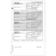 "TOPS® W-2 Tax Form, 1 Part, Cut Sheet, ECC Z FOLD, White, 8 1/2 x 14"", 500 Sheets/Pack"