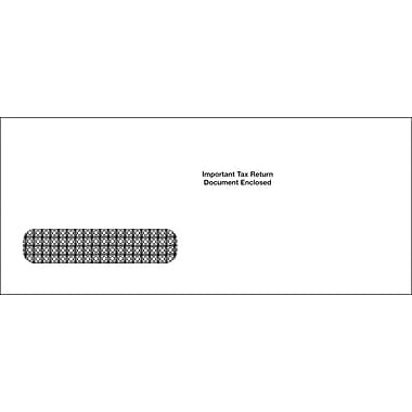 TOPS™ Gum Single Window Envelope for MW1233 and MW1282 Tax Forms, 24 lb, White, 3 7/8 x 9, 100/Pack