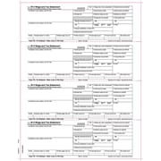 "TOPS® W-2 Tax Form, 1 Part, Laser, Employer's copies cut sheet, White, 8 1/2"" x 11"", 50 Sheets/Pack"