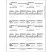 "TOPS® W-2 Tax Form, 1 Part, Employer's copies cut sheet, White, 8 1/2"" x 11"", 2000 Sheets Per Carton"