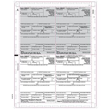 TOPS® 1099R Tax Form, 1 Part, Cut Sheet, White, 8 1/2