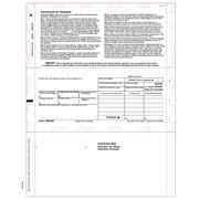 "TOPS® 1099INT Tax Form, 1 Part, Cut Sheet, Z-fold, White, 8 1/2"" x 11"", 500 Sheets/Pack"