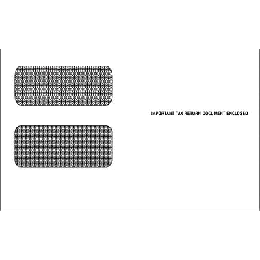 TOPS Gummed 1098C Tax Double Window Envelope, 24 lb., White, 5 5/8in. x 9in., 100/Pack