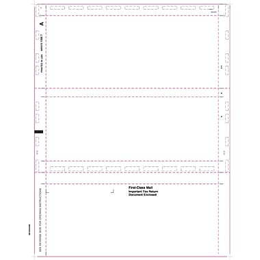 TOPS® 1098T Tax Form, 1 Part, Cut Sheet-Blank w/Backer, White, 8 1/2