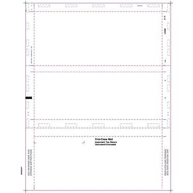TOPS 1099INT Tax Form, 1 Part, Cut Sheet with Backer, Z-fold, White, 8 1/2in. x 11in., 500 Sheets/Pack