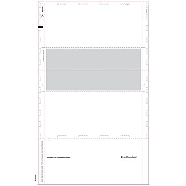 TOPS 1099R Tax Form, 1 Part, Cut Sheet Blank w/Back, ECC Z FOLD, White, 8 1/2 x 14, 500 Sheets/Pack
