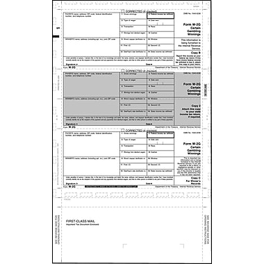 TOPS 2013 W2G Tax Form, 1 Part, White, 8 1/2in. x 14in., 500 Sheets/Pack