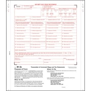 "TOPS® W3C Tax Form, 2 Part, White, 8 1/2"" x 11"", 100 Forms/Pack"
