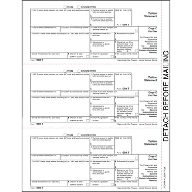 TOPS 1098T Tax Form, 1 Part, Filer/State - Copy C, White, 8 1/2in. x 11in.,  2000 Sheets/Carton