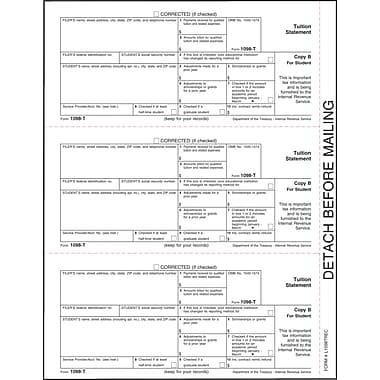 TOPS 1098T Tax Form, 1 Part, Student - Copy B, White, 8 1/2in. x 11in.,  2000 Sheets/Carton