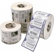 "Zebra Label Paper 2.25""(H) x 0.5""(W) Direct Thermal, White"