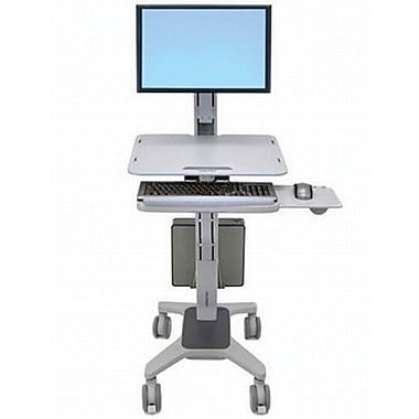 ergotron 24198055 single display workfit c sit stand work station up to 37 lbs staples. Black Bedroom Furniture Sets. Home Design Ideas