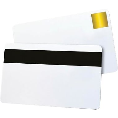 Zebra® 104523-112 Premier Blank Card, White, Low Coercivity