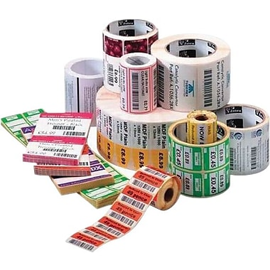 Zebra® 10001965 8000D Paper Thermal Transfer Label for Barcode Printers, Cont x 4in.(W) x 74'(L)
