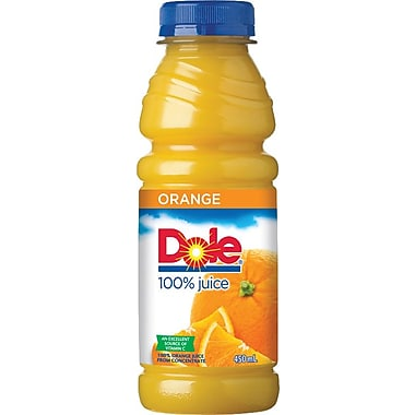 Dole Orange Juice, 450 mL Bottles, 12-Pack