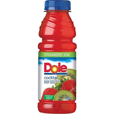 Dole Strawberry Kiwi Juice, 450 mL Bottles, 12-Pack
