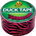Duck Tape Brand Duct Tape, Pink and Black Zebra, 1.88in.x 10 Yards