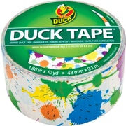 DuckTape® Brand Duct Tape, Paint Splatter, 1.88x 10 Yards