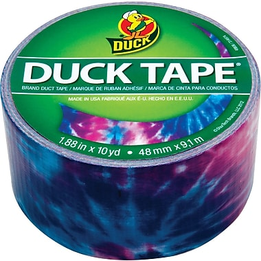Duck Tape® Brand Duct Tape, Totally Tie-Dye™, 1.88