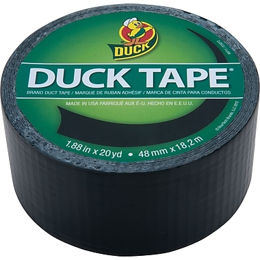 Duck Tape® Brand Duct Tape, Black Midnight Madness™, 1.88