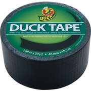 Duck Tape® Brand Duct Tape, Black Midnight Madness™, 1.88 x 20 Yards