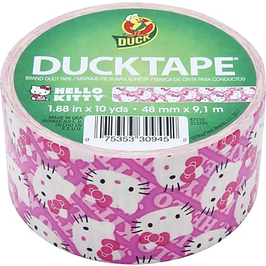 Duck Tape Brand Duct Tape, Hello Kitty, 1.88in.x 10 Yards