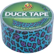 Duck Tape® Brand Duct Tape, Blue Leopard, 1.88x 10 Yards