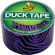 Duck Tape® Brand Duct Tape, Purple Zebra, 1.88in.x 10 Yards