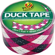 Duck Tape® Brand Duct Tape, Pink Argyle, 1.88x 10 Yards